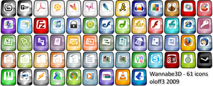 Wannabe3D Dock Icon package by oloff3