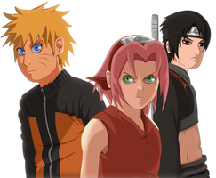 Naruto team 7 journal by Equine-Instinct