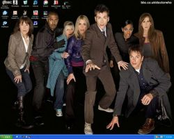 My desktop The Doctor and Crew by lydiaicywolf25
