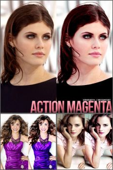 action. magenta. by ateaparty