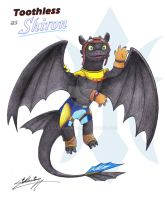 Toothless as Shiron the Windragon by SAGADreams