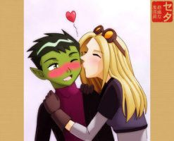 Beast Boy_Terra kiss -- Final by teentitans