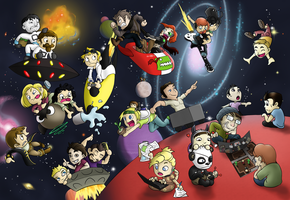 Yogscast in Space by Flying-pen