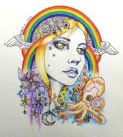 Girl With Kaleidoscope Eyes by BlackMagdalena
