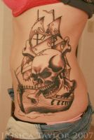 Skull Ship by Jlynntaylorart