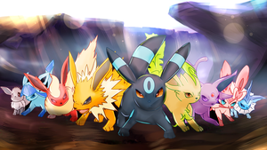 Commission 32 - Mar '15 - Rise of the Eeveelutions by AutobotTesla