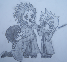 Axel Roxas and Xion Chibi by MrsZeroKiryu