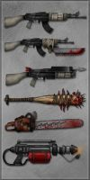Undead Planet - Weapons by sergio-garcia
