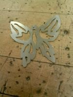Pierced Piece (Finished Cutting) by KeKitty