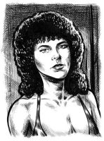 Adrienne Barbeau sketch card by dalgoda7