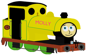 Molly The Yellow Saddletank Engine by TheAusterityEngine