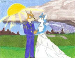 Fox and Krystal's Wedding by StarFox-Saiyan