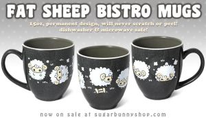Fat Sheep Bistro Mug by celesse