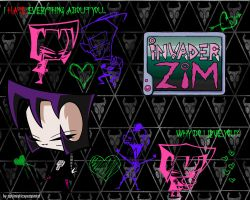 Gaz x Zim WP: Black Logo by optimisticxpessimist
