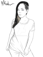 Suzy (AKA first ever time drawing a woman) by clearscorpse