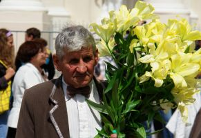 A Man With Lillies by JuodaVarna
