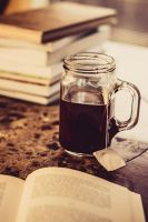 Book and Tea by FoxeyePhoto