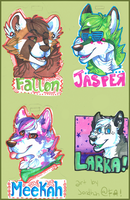 traditional badges by catfarts