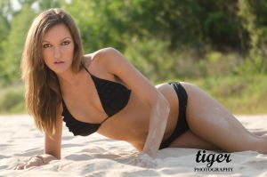 Cynthia in the Sand by tigerphotography