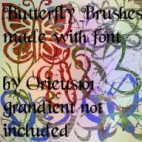 Butterfly Brushes for GIMP by Orieus101