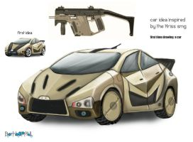 Kriss Smg Armored Stealth Car by BombOPAUL