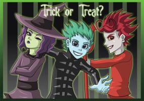 Trick or Treat- Lock Shock and Barrel by Grim-Raider