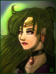Sailor Pluto painting by FrozenDreamer