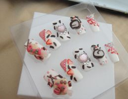 COOKIES, CANDY HEAVEN 3D NAIL SET by jadelushdesigns