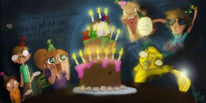 Birthday doodle by ScribbleNetty
