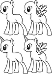 MLP:FiM Lines (MSPaint Friendly) by KittyMewGirl