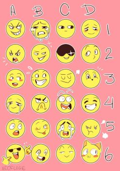Emoji Challange  By Vanillavayder by pastel-pines