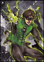 Green Lantern aceo by XMenouX