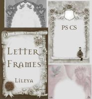 Letter Frames - Image Pack by Lileya