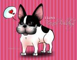 I Love French Bulldogs 1 by Mareishon
