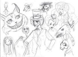 Tim burton characters by Manghorse