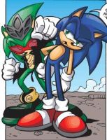 King Scourge and Sonic Maurice Hedgehog*AC by LukeVei-Da-Hedgehog