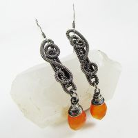 Carnelian and Sterling Silver by Gailavira