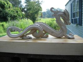 Dragon before oil finish. by woodcarver92