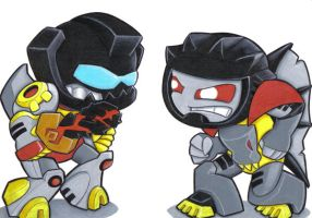 grimlock and tyrantis for rodi by prisonsuit-rabbitman