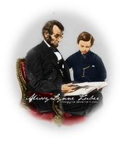 Abraham and Tad Lincoln by MissyLynne