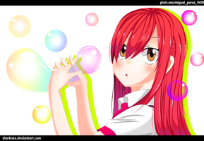 Fairy tail- Erza bubble time by sharknex