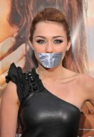 Miley Cyrus taped up by ikell