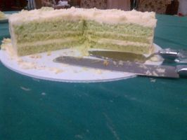 Celtic Key Lime Wedding Cake by wickedwitchinc