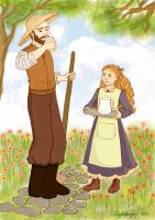 Saint Therese and her father by artelizdesouza
