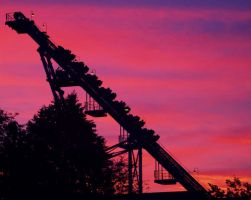Roller Coaster Sunset by chribob