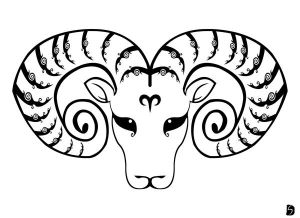 Zodiac Tattoo Designs With Image Zodiac Symbol Picture Tribal Aries Tattoo 6