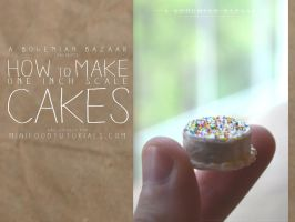 TUTORIAL - how to make 1:12 scale miniature cakes by abohemianbazaar