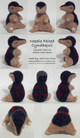 Needle Felted Figurine - Sitting Cyndaquil - 01 by EleanoraHoshi
