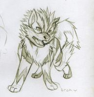 Archy the Arcanine SKETCH by KasaraWolf