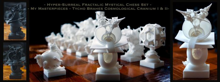 Surreal Chess Set - My Masterpieces - The Bishops by MANDELWERK